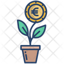 Money Plant Euro Plant Money Growth Icon