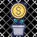 Leaf Coin Dollar Icon