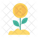 Growth Dollar Plant Icon