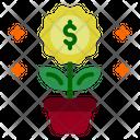 Money Plant Investment Money Growth Icon