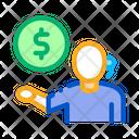 Money Problems Telemarketing Icon