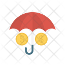 Protection Dollar Umbrella Icon
