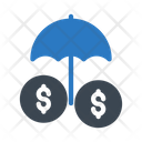 Umbrella Protection Secure Icon