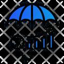 Umbrella Investment Money Icon
