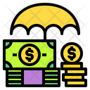 Umbrella Money Coin Icon