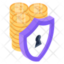 Financial Security Money Protection Currency Protection Icon