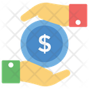 Financial Saving Dollar In Hands Money Protection Icon