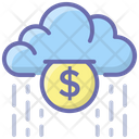 Money Raining Coins Raining Cashback Icon