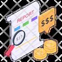 Money Report Analysis Finance Analysis Business Analysis Icon
