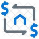Money Home Rotation Icon
