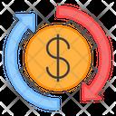 Money Transfer Money Shuffle Money Exchange Icon
