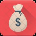 Money Sack Back Icon