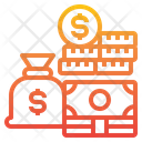 Saving Money Bag Coins Icon