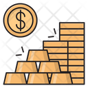 Dollar Coins Money Icon