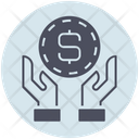 Business Money Hand Icon
