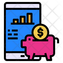 Mobile Screen Piggy Bank Icon