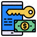 Mobile Key Coin Icon
