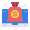Laptop Money Bag Business Icon