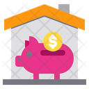 Piggy Money House Icon