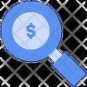 Money Search Income Search Income Sought Icon