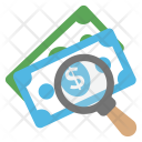 Money Search Fundraising Icon