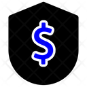 Dollar Currency Shield Sign Money Sack Icon