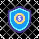 Money Protection Shield Icon