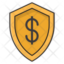 Security Shield Dollar Icon