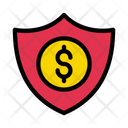 Dollar Shield Security Icon