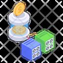 Blockchain Storage Money Storage Bitcoin Storage Icon