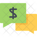 Money Talk Communication Business Talk Icon