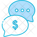 Money Talk Business Talk Communication Icon