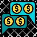 Money Talk Financial Loan Icon