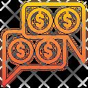 Money Talk Finance Chat Communication Icon