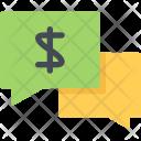 Money Talk Business Icon