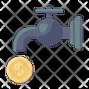 Money Faucet Cash Faucet Financial Faucet Icon
