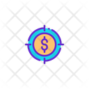 Money Target Profit Target Money Icon