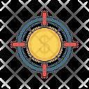 Dollar Target Focus Icon