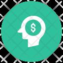 Thinking Money Brain Icon
