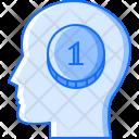 Head Brain Coin Icon