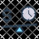 Money Time Balance Icon