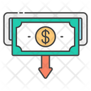 Money Transaction Cash Withdrawal Commerce Icon
