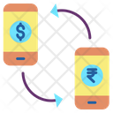 Ibusiness Mobile App Money Transfer Exchange Money Icon