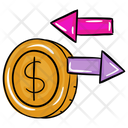 Money Transfer Money Flow Cash Flow Icon