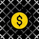 Transfer Dollar Money Icon