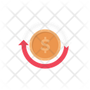 Dollar Coins Transfer Icon