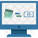 Money Transfer Online Money Credit Card To Cash Icon