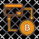 Money Transfer Card To Bitcoin Transfer Icon