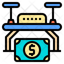 Money Transport Drone Ai Icon
