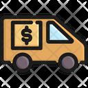 Money Truck Transportation Vehicle Icon